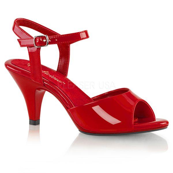 Belle-309 Klassische Sandalette mit Riemchen rot Lack